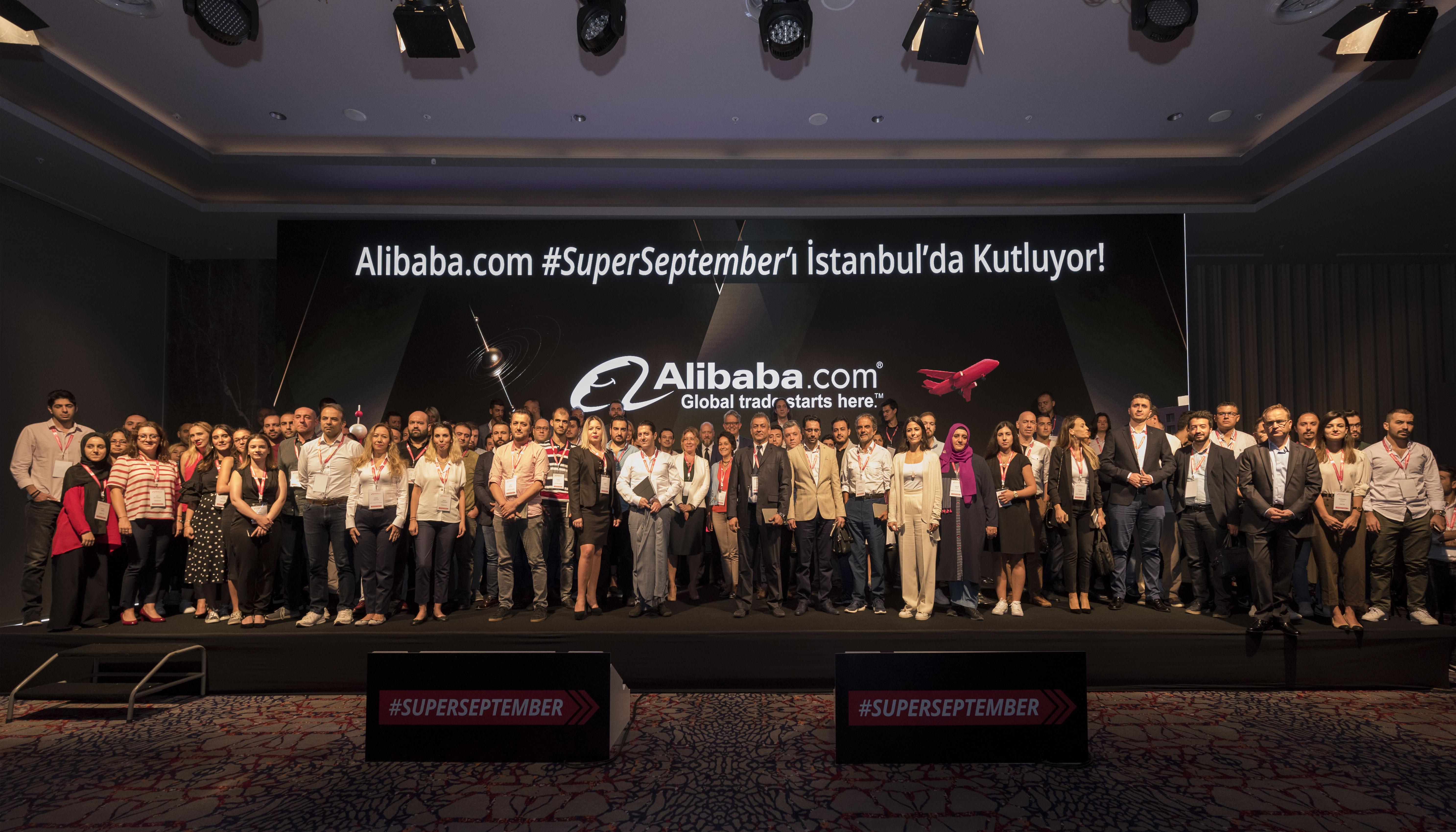 Alibaba.com Türkiye, hem alıcılar hem de satıcılar için fırsatlarla dolu #SuperSeptember'ın başlangıcını Türk GGS üyeleri ve Alibaba.com yöneticilerinin katılımıyla İstanbul'da gerçekleştirdi.