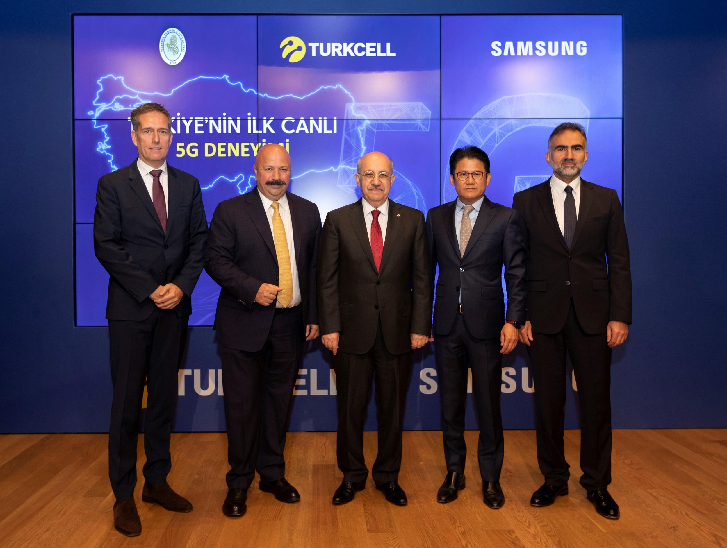5G teknolojisi, Turkcell ve Samsung Türkiye işbirliğiyle ilk kez  deneyimlendi