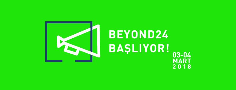 Geçtiğimiz yıl vizyona giren Blue belgeselinin yapımcısı ve Cannes'te gösterim yapan Djam filminin ortak yapımcısı Güverte Film tarafından düzenlenen ve 03 - 04 Marttarihlerinde Kadir Has Üniversitesi Haliç Kampüsü'nde gerçekleşecek olan Beyond 24,Türkiye