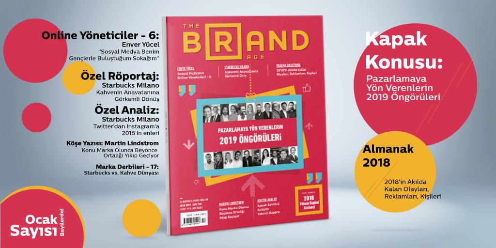 İş dünyası profesyonellerinin 2019'da reklam, pazarlama ve iletişim alanında hangi trendlerin bizi etkileyeceğine dair öngörülerini paylaştığı Ocak sayımız yayında!