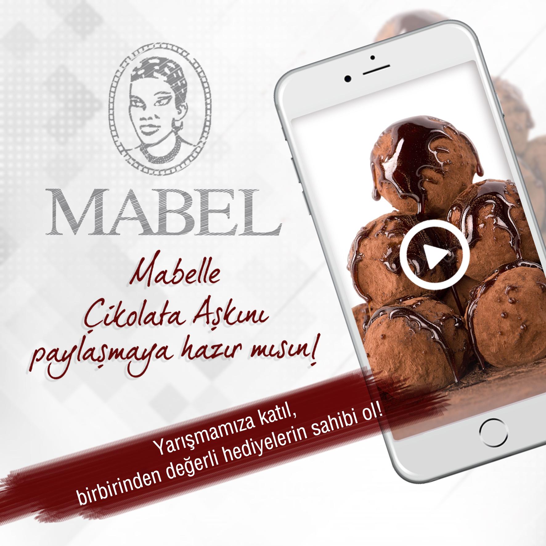 Türkiye'nin  çikolata üreticilerinden Mabel, 70. yılında sosyal medya üzerinden düzenlediği özel bir yarışma ile çikolata severleri bir araya getiriyor. Yarışmada çikolata aşkını 70 saniyede anlatanları sürpriz hediyeler bekliyor.