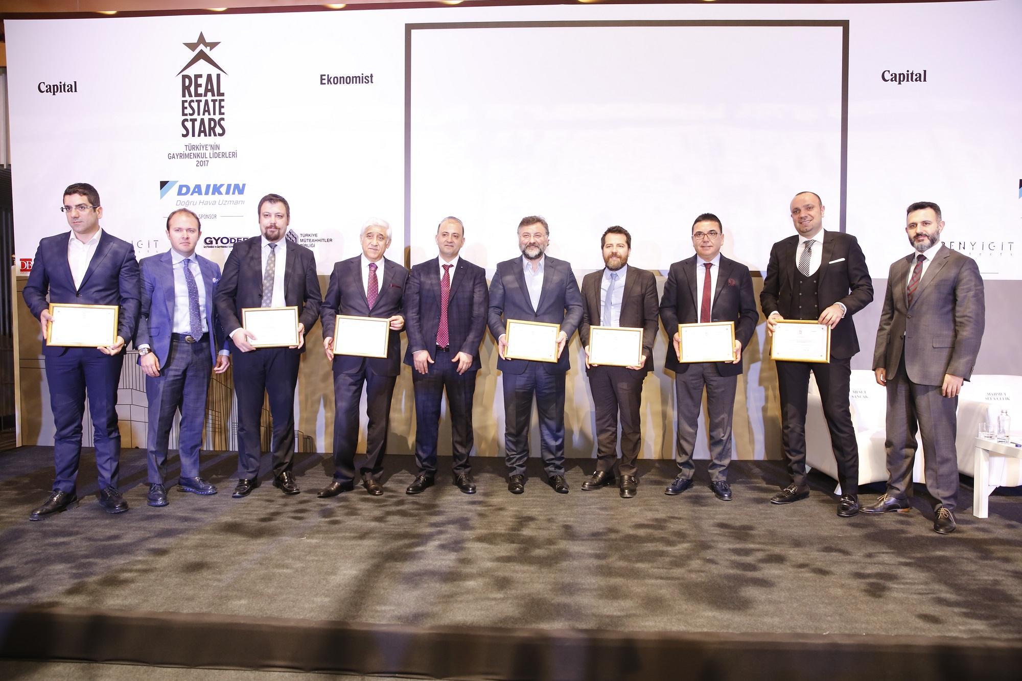 Gayrimenkul sektörüne yön veren şirketleri teşvik etmeyi amaçlayan Real Estate Stars Ödülleri sahiplerini buldu.