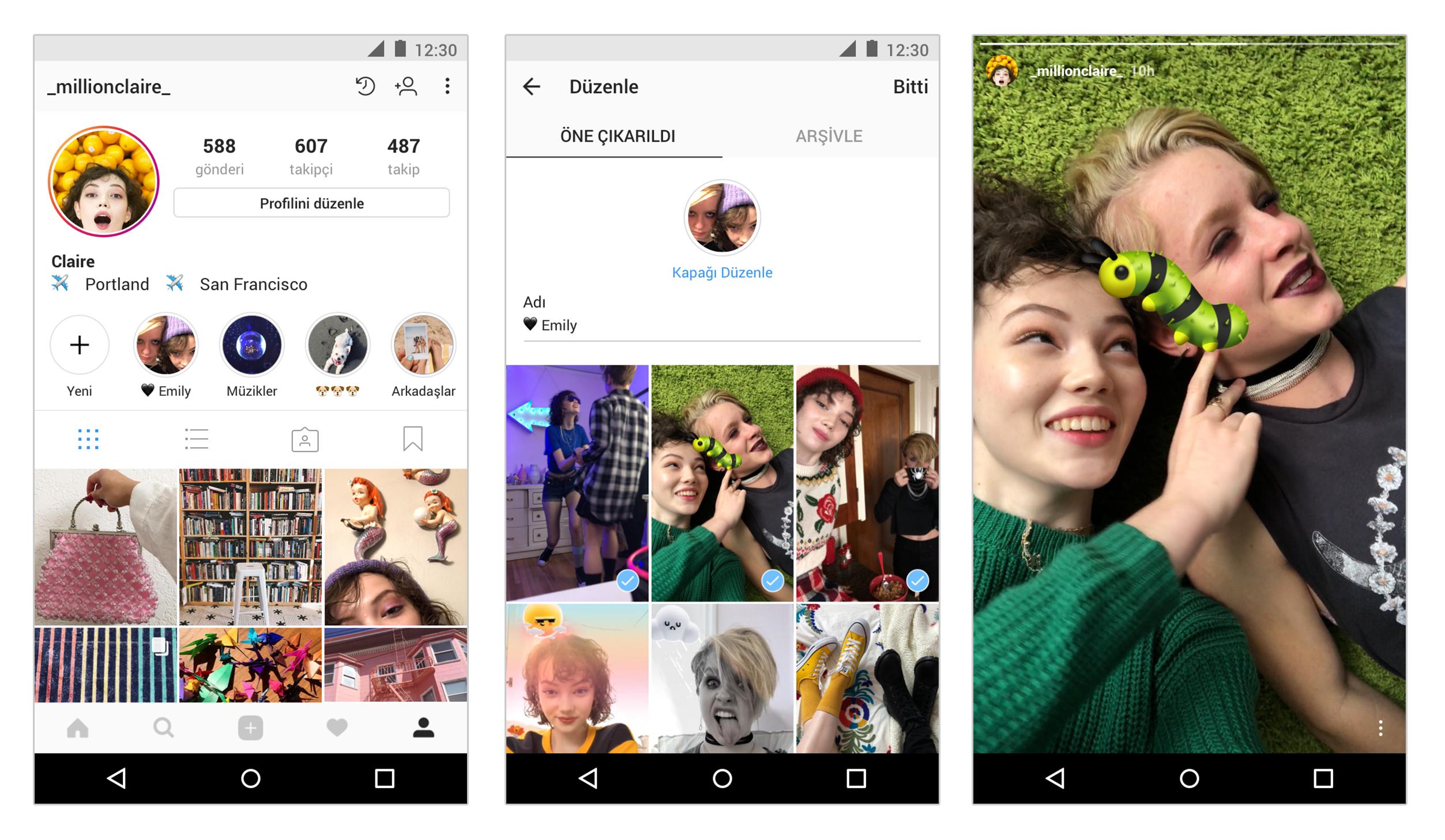Hikaye Arşivi ve Hikayelerde Öne Çıkanlar özellikleri ile insanlar hikayelerinde paylaştıkları en sevdikleri anlarını kaydedebilecek ve profillerinde gösterebilecek.