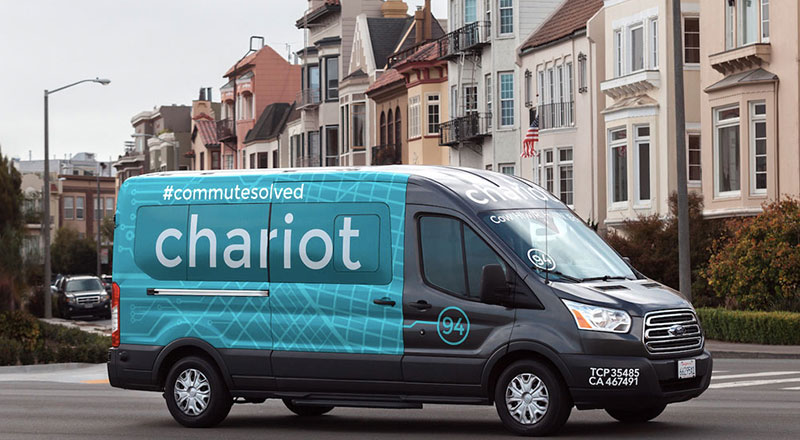 Chariot şu anda Seattle, San Francisco, Austin ve New York'da aktif rotalara sahip ve son crowdsourced rotasını New York'da kullanıma sundu.
