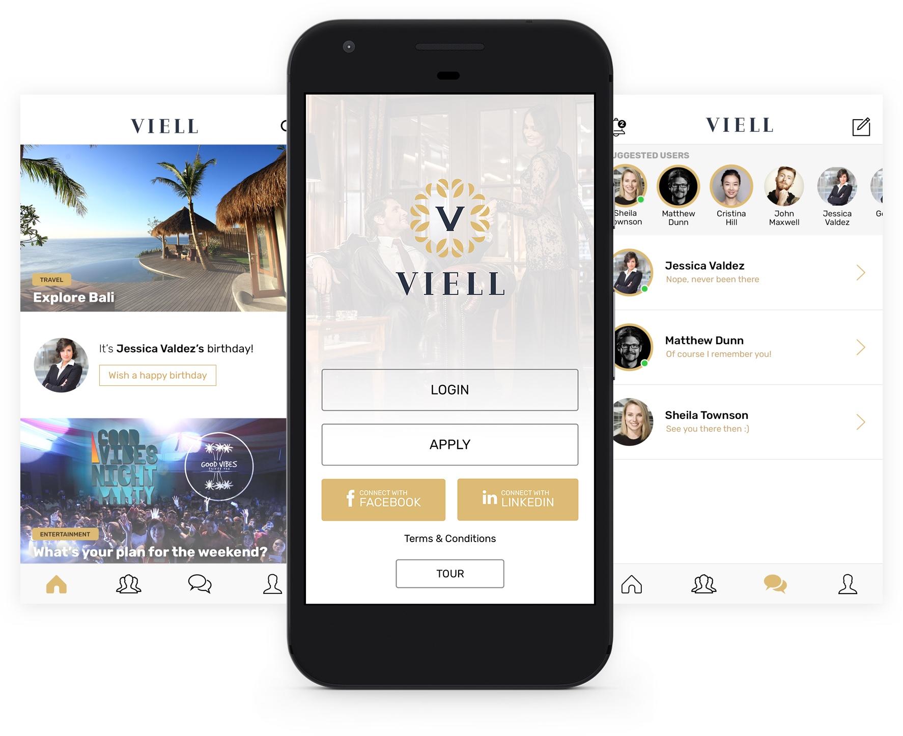 Profesyoneller, sanatçılar, girişimciler ve tasarımcılar gibi seçkin üyeleri içinde barındıran, kitlesi geniş, kendi içerisinde segmentlere ayrılmış sosyal bir kulüp olan Viell, mobil uygulamasını yayınladı.